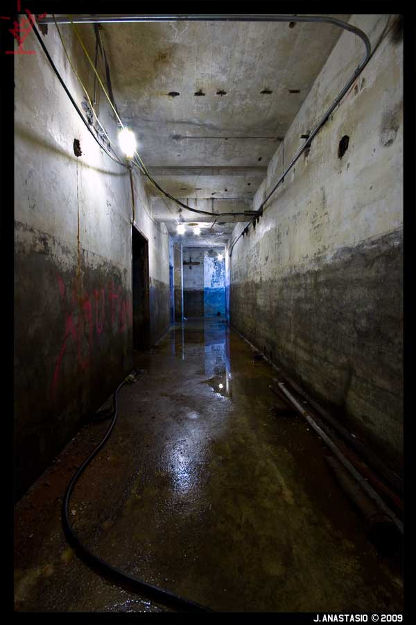 Long Basement Hallway