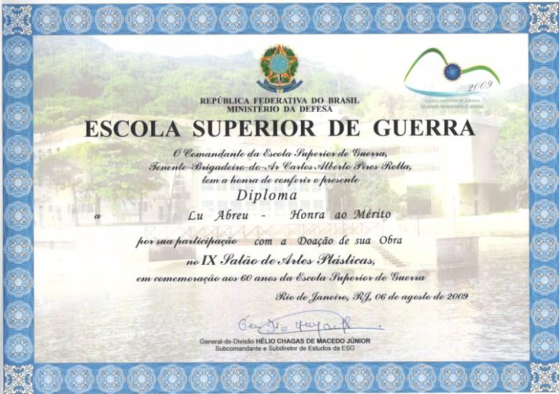 honores - III Salón Nacional de Artes de la Asociación de Graduados de la Escuela de Guerra - Copacabana / RJ