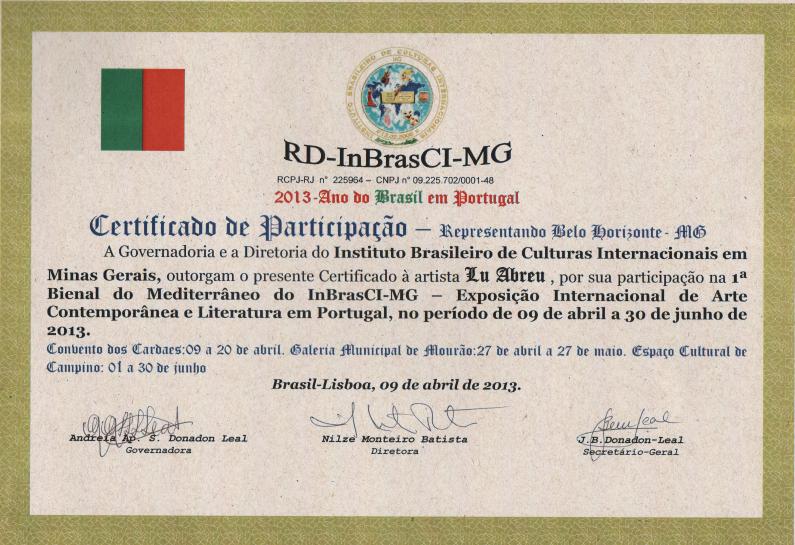 1ª Bienal do Mediterrâneo -  Portugal