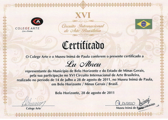 XVI Circuito Internacional de Arte Brasileño -  Belo Horizonte / Minas Gerais