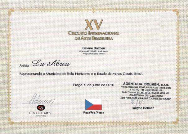 XV Circuito Internacional de Arte Brasileño - Praga / República Checa