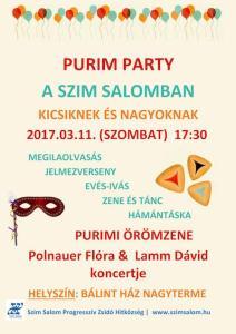 Purim Party a Szim Salommal