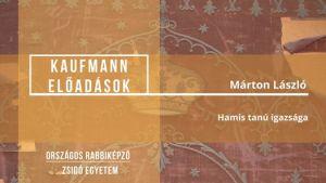 Kaufmann-előadások // Márton László