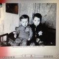 Two Lithuanian Jewish boys wearing stars. Did they survive?