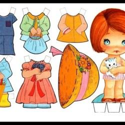 bonecas de papel 1 1 - Brincando com bonecas de papel