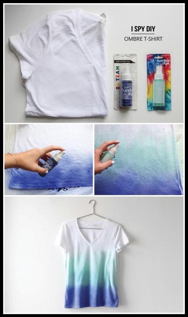 camiseta em degradê - FAÇA VOCÊ MESMA UMA TRANSFORMAÇÃO EM SUAS ROUPAS