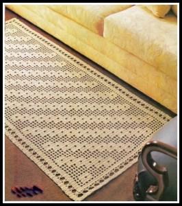 tapetes -croche -retangular