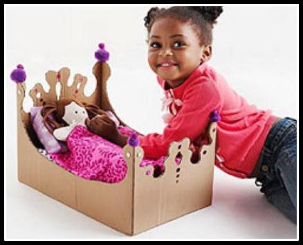 12 ideias brinquedos feitos caixa papelao reciclagem atividade criancas brincar em casa 5 - FAÇA VOCÊ MESMA BRINCADEIRAS PARA AS CRIANÇAS USANDO PAPELÃO