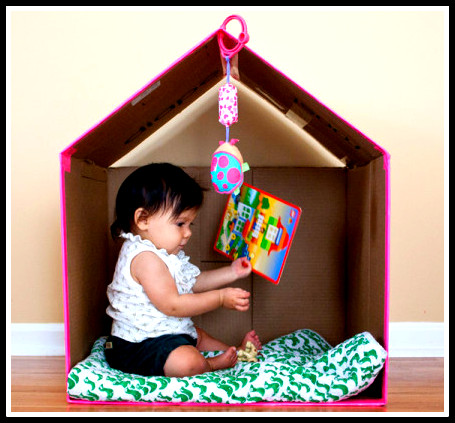12 ideias brinquedos feitos caixa papelao reciclagem atividade criancas brincar em casa 8 - FAÇA VOCÊ MESMA BRINCADEIRAS PARA AS CRIANÇAS USANDO PAPELÃO