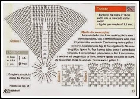 grafico florido mariachike - FAÇA VOCÊ MESMA LINDOS TRABALHOS EM CROCHÊ COM GRÁFICO