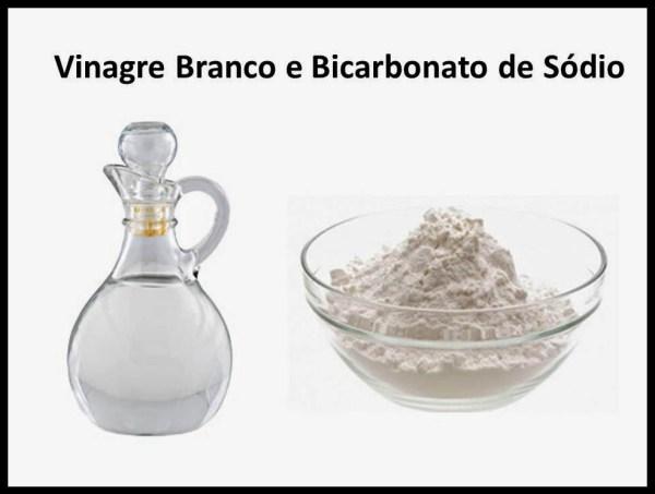 Vinagre Branco e Bicarbonato de Sódio