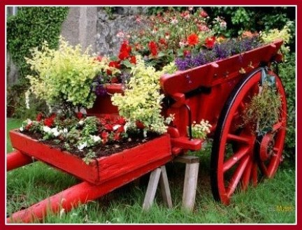 carrinho de flores - FAÇA SEU JARDIM EM QUALQUER CANTO