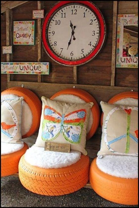 kidspacestuff.com  - COMO DECORAR GASTANDO POUCO COM PNEUS