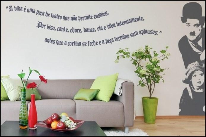 Adesivo poesia parede decoração - COMO DECORAR GASTANDO POUCO COM ADESIVOS
