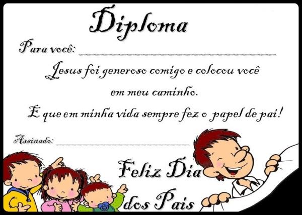 Diploma dia dos pais 2 - evangelico colorido