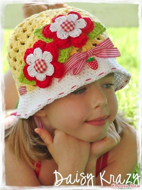 chapéu de crochê 002 - LINDOS MODELOS DE CHAPÉUS DE CROCHÊS INFANTIS