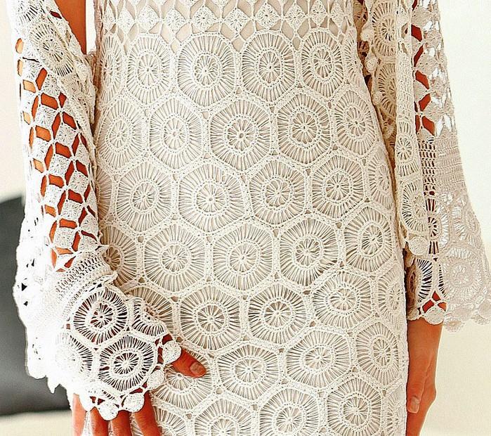 grafico vestido branco2 - VESTIDO BRANCO LONGO DE CROCHÊ PASSO A PASSO