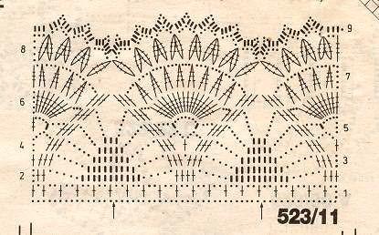 grafico vestido folha4 - TRÊS VESTIDOS DE CROCHÊ COM GRÁFICOS