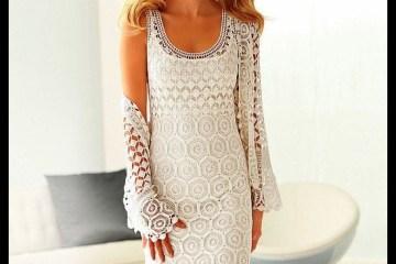 vestido branco - VESTIDO BRANCO LONGO DE CROCHÊ PASSO A PASSO