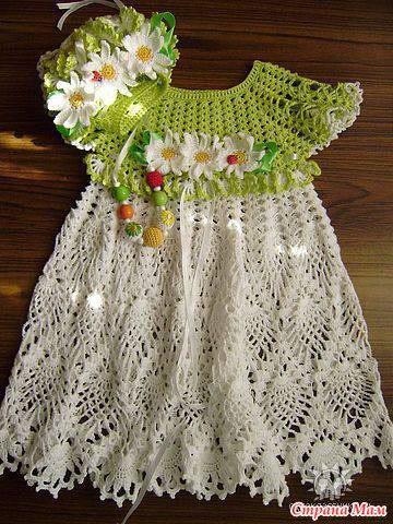 vestido infantil colorido4 - VÁRIOS MODELOS DE VESTIDOS INFANTIS DE CROCHÊ