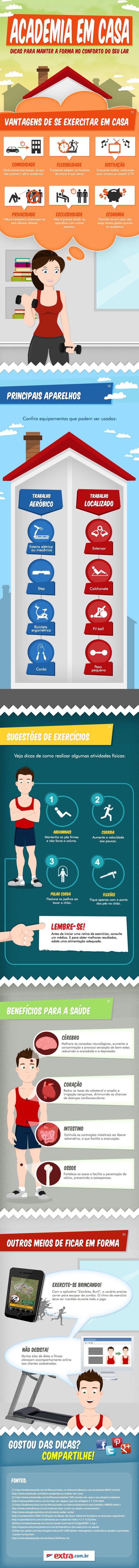 dicas para se exercitar em casa - EXERCÍCIOS FÍSICOS PARA FAZER EM CASA