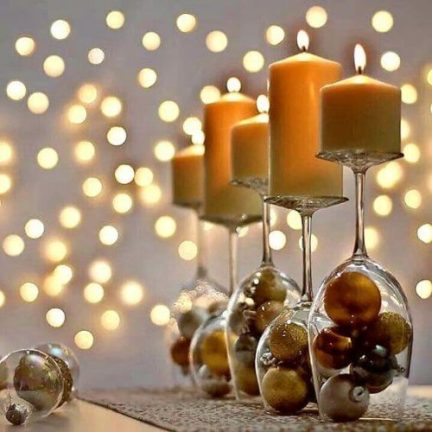 Ano novo mesa 2 e1608138188378 - Decoração para Natal e Ano Novo: baratas e fáceis
