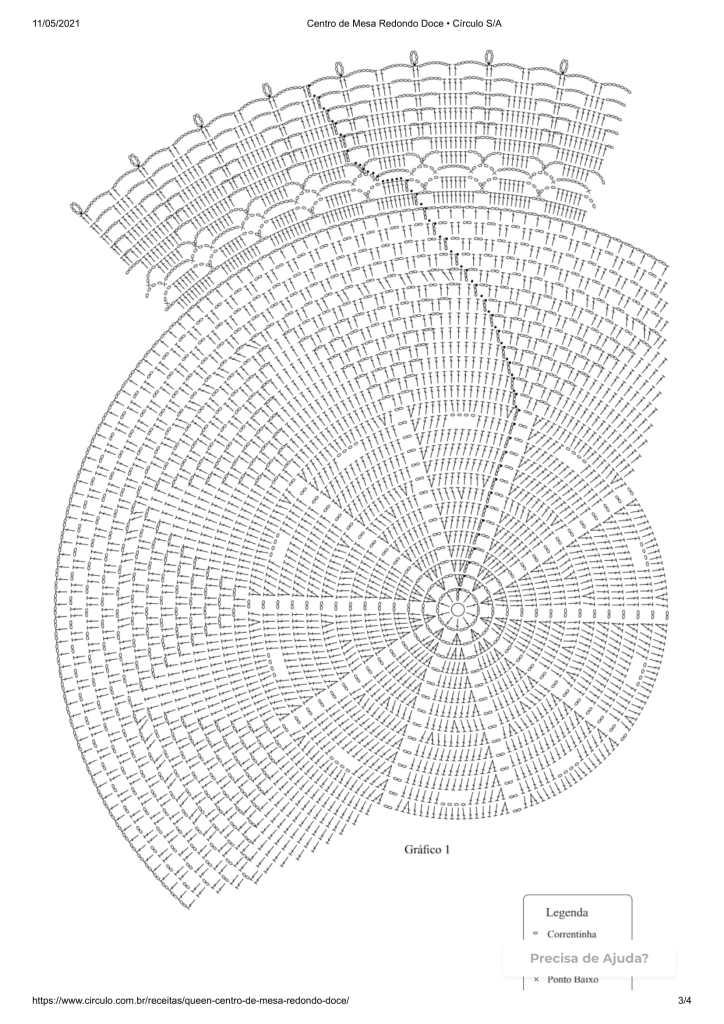 dentro de mesa grafico 724x1024 - RECEITA E GRÁFICO DE CROCHÊ FÁCIL: CENTRO DE MESA REDONDO