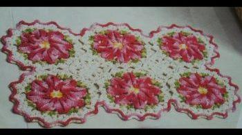 tapete barroco em crochê