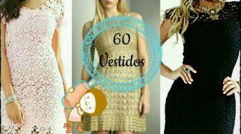 60 modelos de vestido em croche com grafico