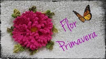 Passo a passo flor de crochê primavera