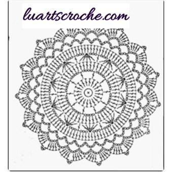 Sosuplat estrelado de crochê com gráfico para imprimir