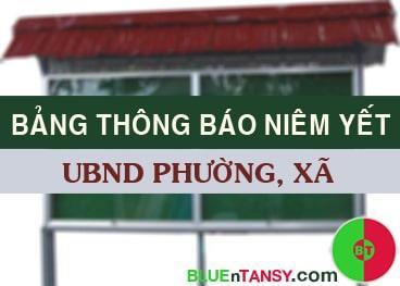 thong bao niem yet cong khai ubnd phuong xa
