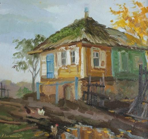 """""""Старый курень"""" холст, масло 44х66 2011г."""