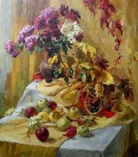 """""""Осенний натюрморт"""" холст, масло 63х70 2013г."""
