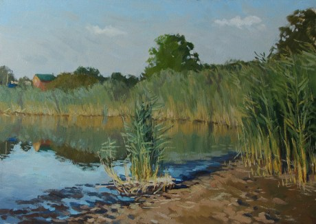 «Тихая река» холст, масло 50х70 Цена: 12 000 руб.