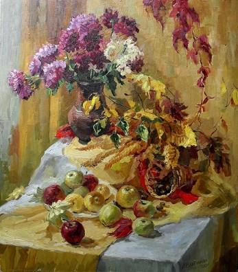 «Осенний натюрморт» холст, масло 63х70 Цена: 15 000 руб.