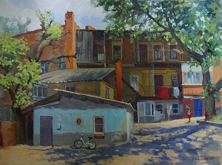 триптих «Ростовский дворик» х.м. 60х80 Цена: 20 000руб.