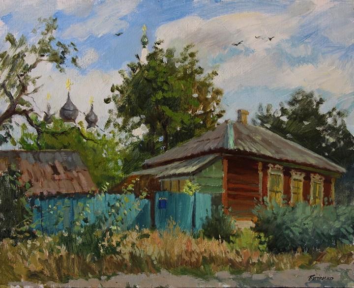 """""""Дом в Старочеркасске"""" холст, масло. 40х50 2016г."""
