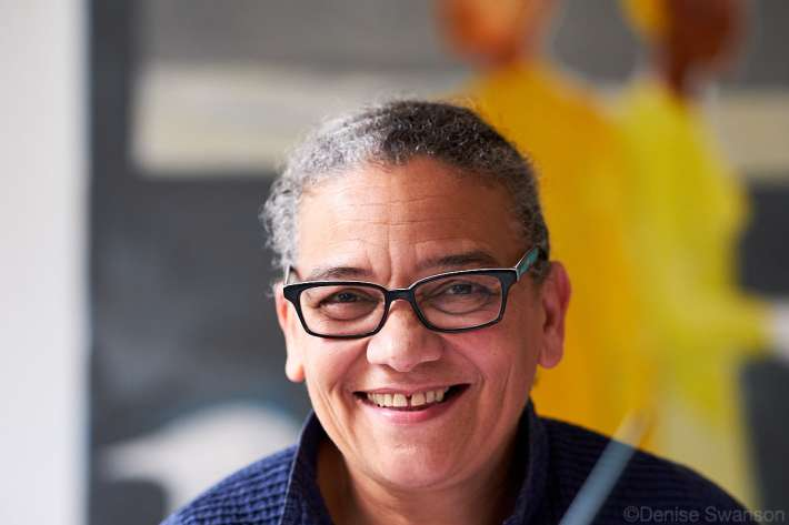 Lubaina Himid MBE. Winner of the 2017 Turner Prize. Photo: Denise Swanson