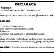 """Detalle programa """"Intxortako erresistenteen eguna"""" 2015"""