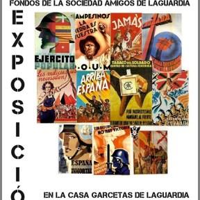 Cartel Exposición de los Fondos de la Guerra Civil Española de la Sociedad Amigos de Laguardia