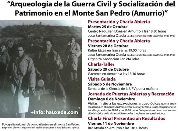 Programa Ciclo Arqueología de la Guerra Civil y Socialización del Patrimonio en el Monte San Pedro