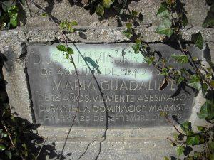 Placa conmemorativa a Jose María Viguri y María Guadalupe
