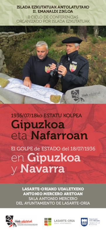 Cartel Hitzaldia Anarkismoa eta bere parte hartzea Gipuzkoako defentsan / Conferencia El anarquismo y su participación en la defensa de Gipuzkoa