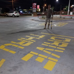 striping Chick Fil A Lubbock Striping