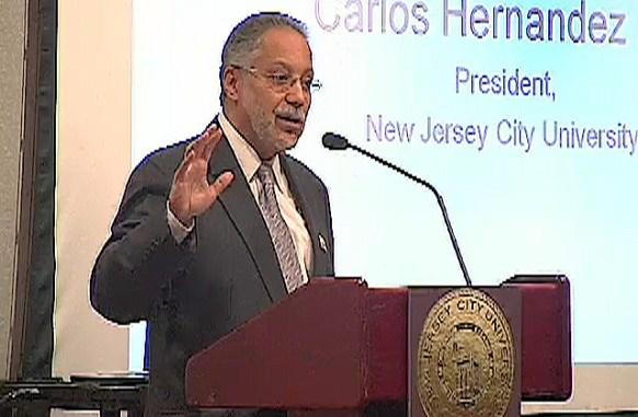 Carlos Hernandez, president of New Jersey City University