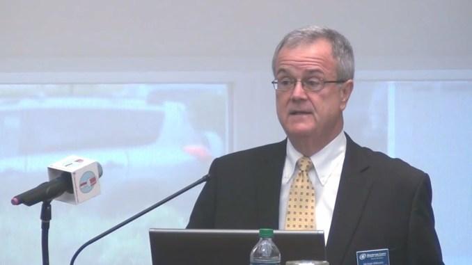 Michael Willmann moderates Burlington Chamber Economic Roundtable