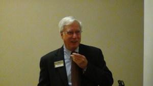 Dennis Kane of Amboy Bank opens the October 2012 Bank Marketing Association seminar