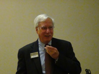Dennis Kane of Amboy Bank opens the October 2012 Bank Marketing Association seminar