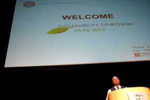 Brad Molotsky, co chair of the DVGBC PA-NJ Sustainability Symposium, welcomes attendees.